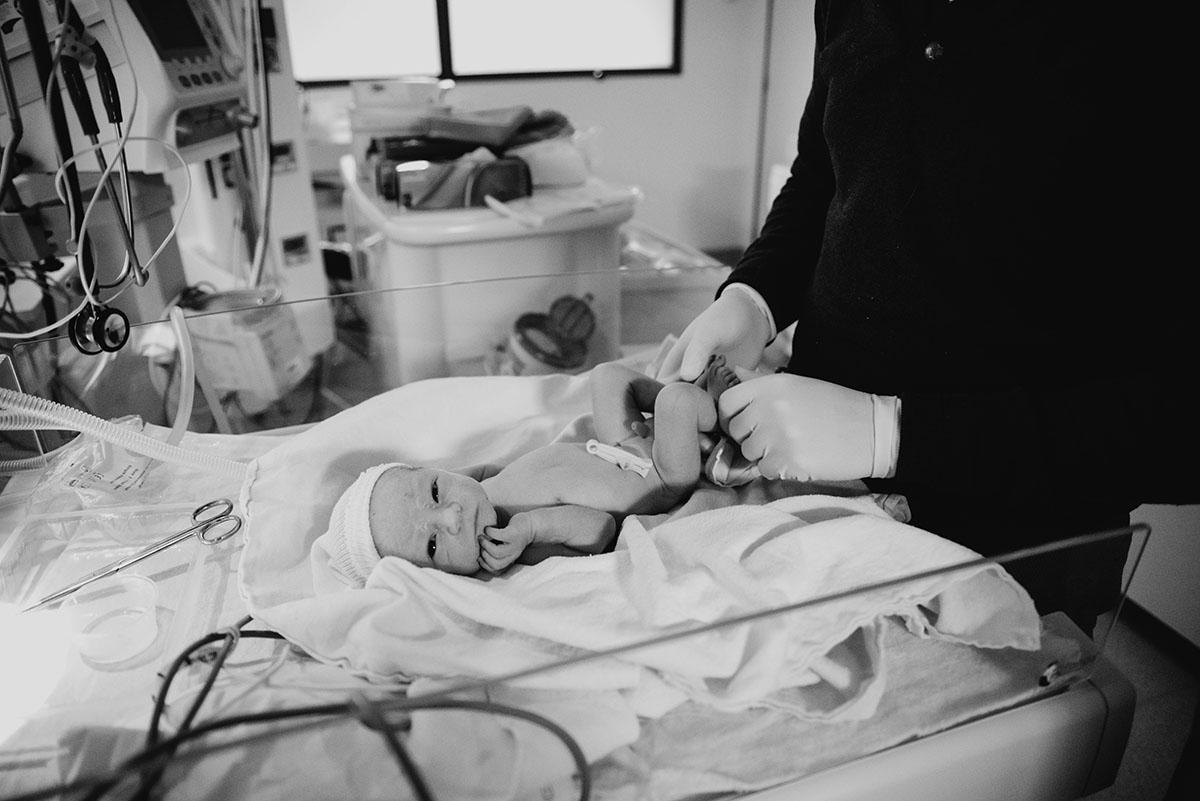 photographie de la délivrance accouchement